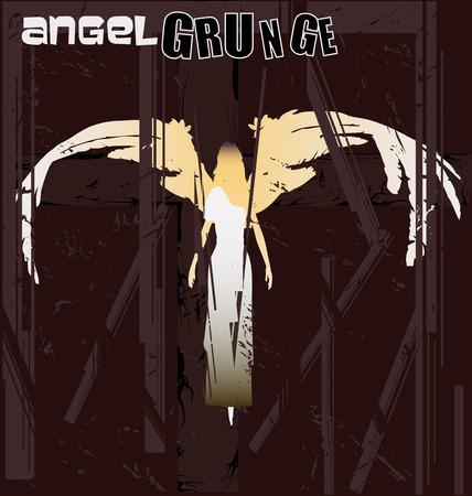 Angel Grunge Vector