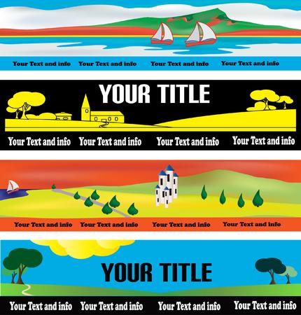 Web Banner Templates Vector