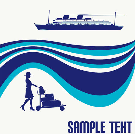 Cruise Liner Flyer Stock Vector - 4581623