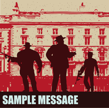 hooligan: Gangster-Angebot-Hintergrund Illustration