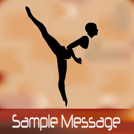 Vintage Ballet Background Stock Vector - 4621776
