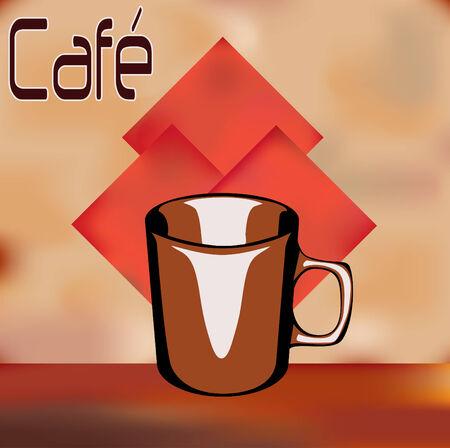 vintage cafe: Vintage Cafe Menu Template Vettoriali