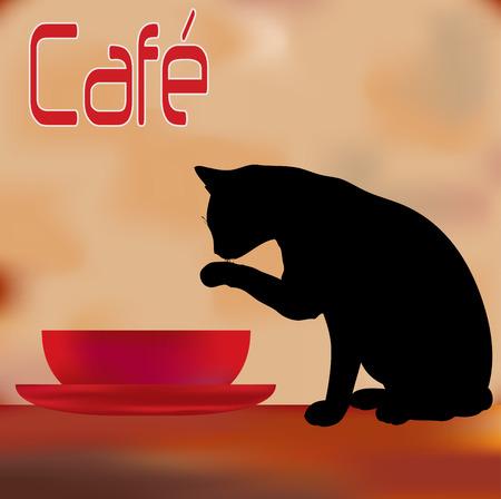kitchen poster: Vintage Cafe Menu Template Illustration