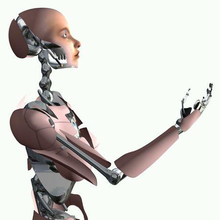robotic: Cyborg Offer Stock Photo