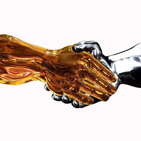 mano robotica: Golden Handshake