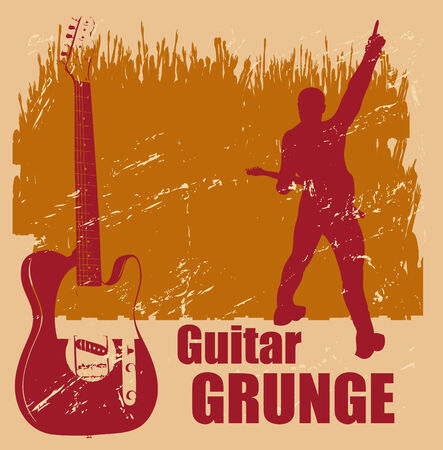 flier: Guitar Grunge Illustration