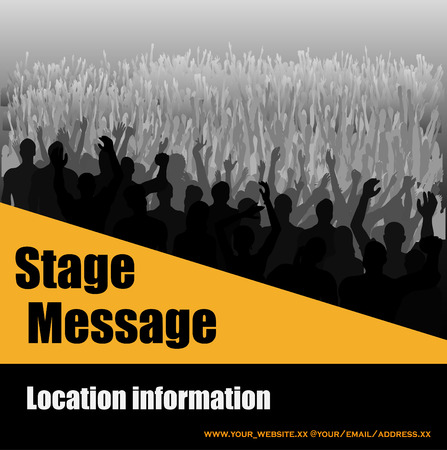 Stage Message Flyer Stock Vector - 4671251