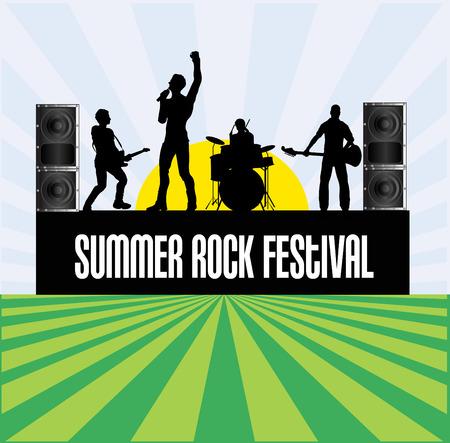 indie: Folleto Festival de Verano Rock Vectores
