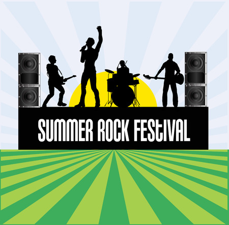 Summer Rock Festival Flyer Stock Vector - 4671243