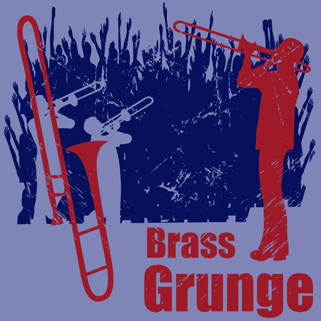 Brass Grunge Illustration