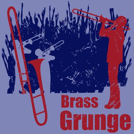 brass: Brass Grunge Illustration