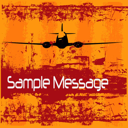 Vintage Air Travel Background Vector