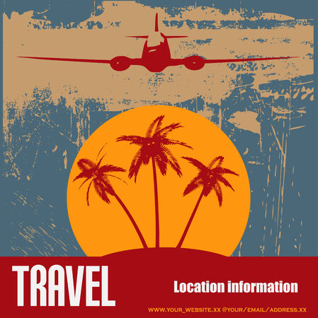 depart: Tropical Beach Travel Flyer