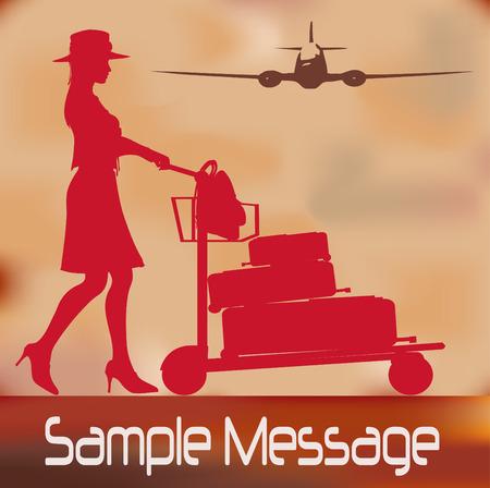 reiziger: Vintage reizen flyer  Stock Illustratie