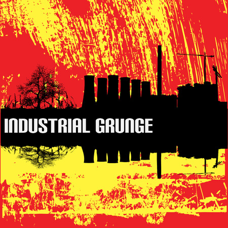 flier: Industrial Grunge Background Illustration