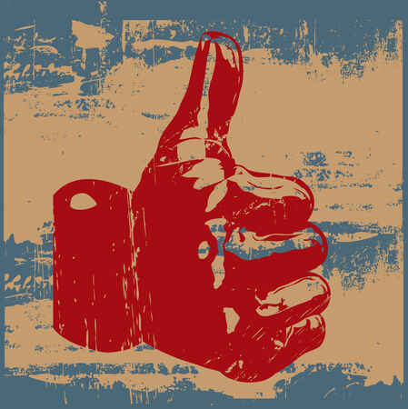 yes communication: Grunge Thumbs Up