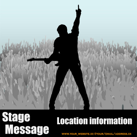 rock guitarist: Stage Message