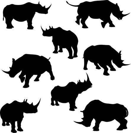 Rhino Silhouettes