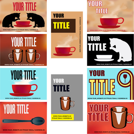 Cafe Business Card Templates Vector