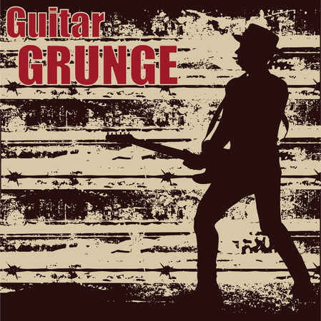Guitar Grunge Stock Vector - 5023322