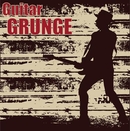 Guitar Grunge Stock Vector - 5023322