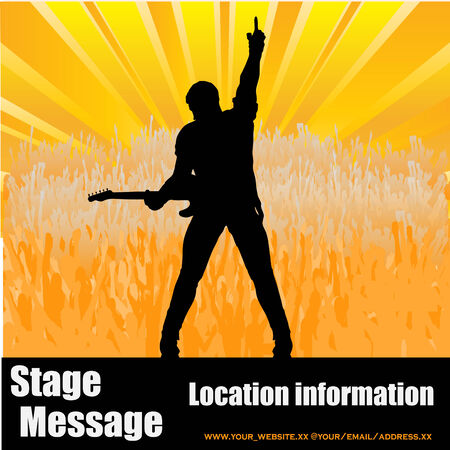 Stage Message Stock Vector - 5023319