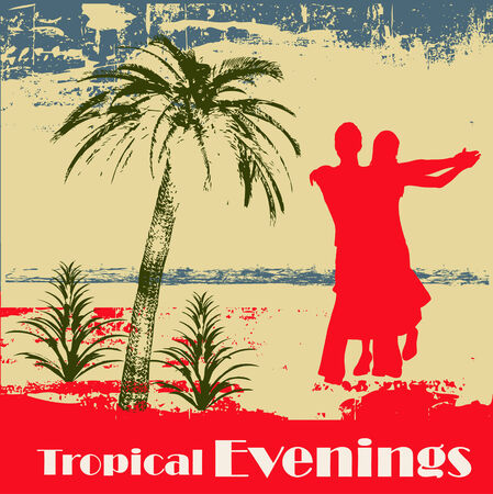Tropical Evenings Background Vector
