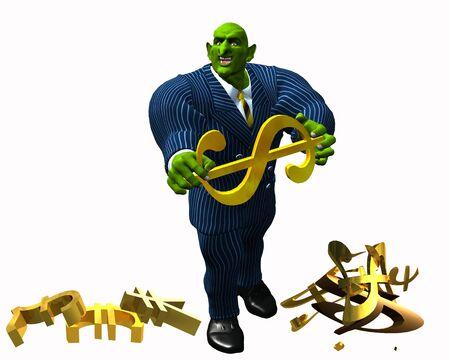 borrowing money: Gremlin Banker