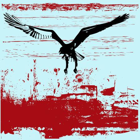 swoop: Eagle Grunge Antecedentes Vectores