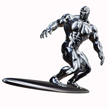 silver surfer: Silver well-built Surfer