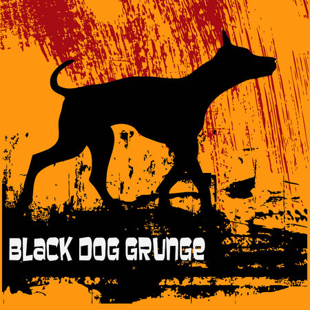dog walk: Black Dog Grunge