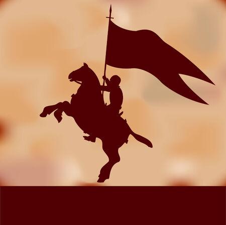 ナイト: バナー騎士背景