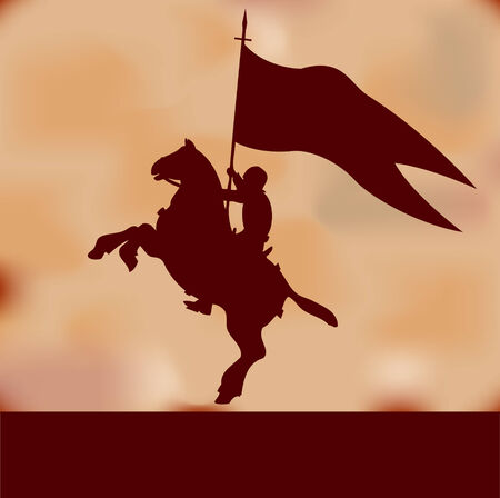 Banner Knight Background Vector