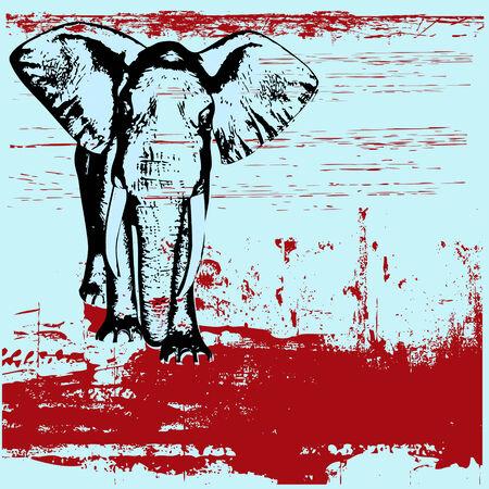 Elephant grunge background