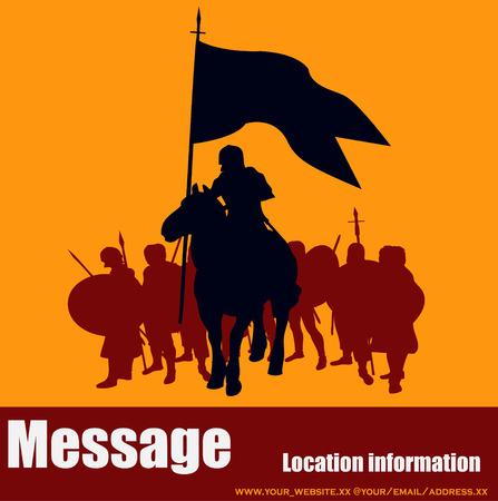 Warrior Message Illustration