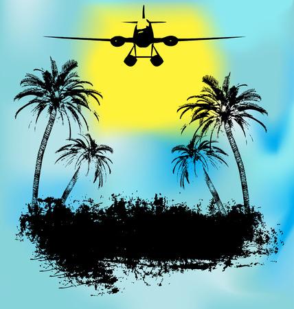 Tropical Island Holiday Vector