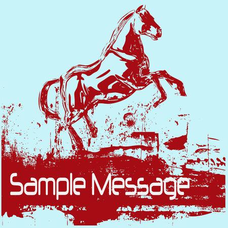장 전기: Prancing Horse Background