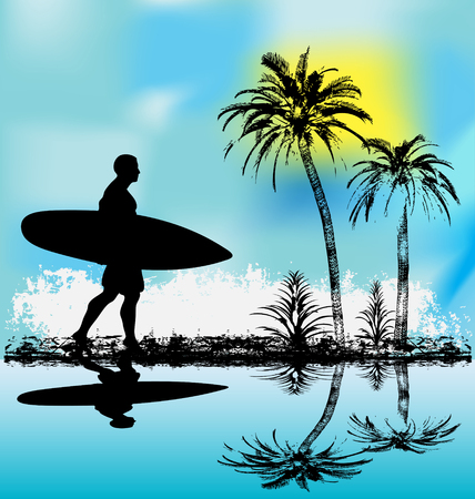 Tropische Surfer Vektorgrafik