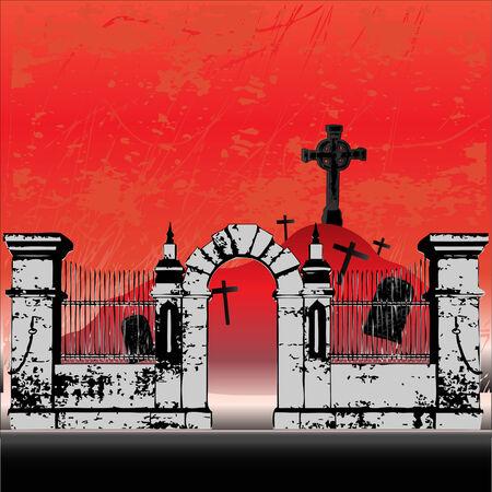 Halloween Graveyard Stock Vector - 5372887