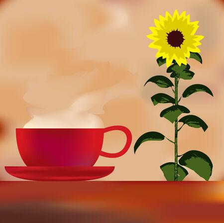 Sunflower Cafe Menu Template Vector
