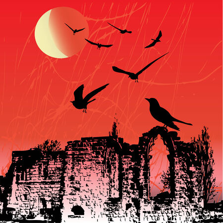 Rookery Ruins Stock Vector - 5420883