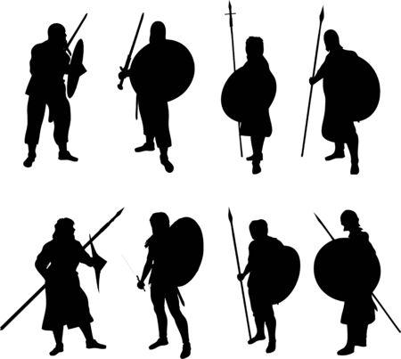 Silhouettes de guerrier