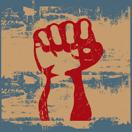 Grunge Fist Stock Vector - 5420887
