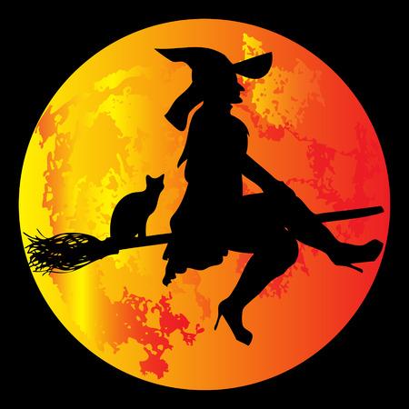 ghostly: Halloween Moon Illustration