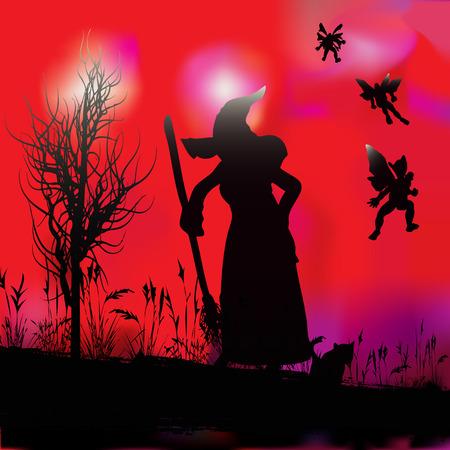 Halloween Witchcraft Stock Vector - 5453082