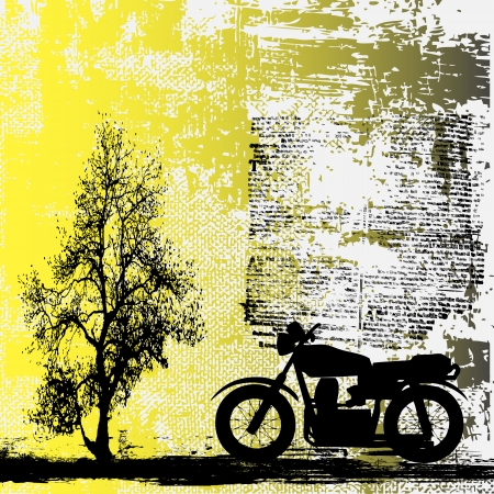 Motorbike Grunge Background Stock Vector - 5453086