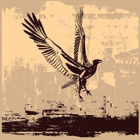 Eagle Grunge Background Vector