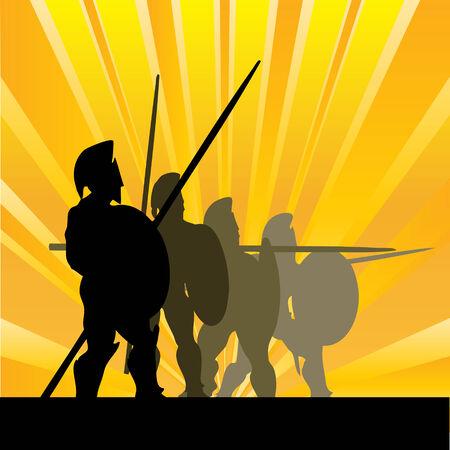 Spartan Sunrise Stock Vector - 5472387