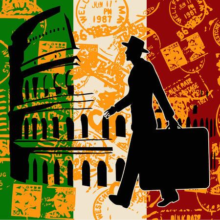 coliseum: Italian Travel Flyer
