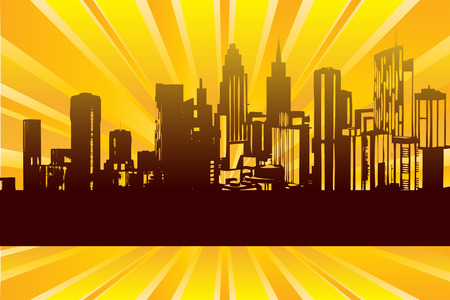 Sunrise City Stock Vector - 5632238